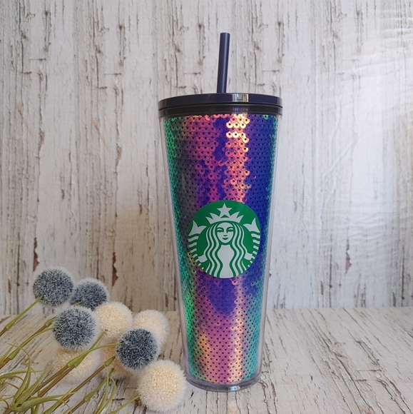 STARBUCKS | 2020 rainbow mermaid sequin tumbler